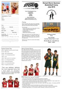 Camp Leaflet Junior 2016