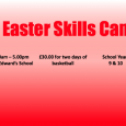 Please find details below for our first Easter Skills Camp.